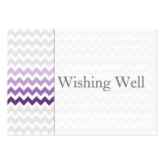 Galón Ombre púrpura de la MOD que desea tarjetas Tarjetas De Visita Grandes