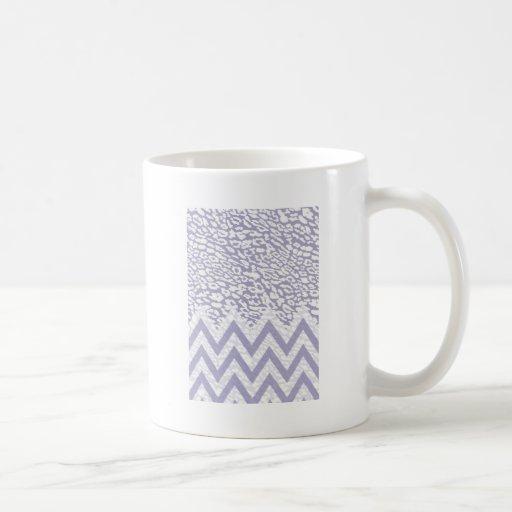 Galón púrpura del leopardo tazas