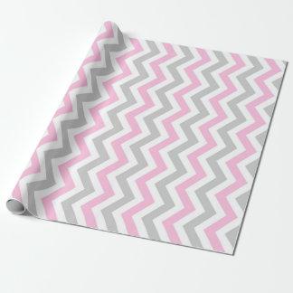 Galón rosado y gris papel de regalo