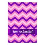 Galón rosado y púrpura invitación 12,7 x 17,8 cm