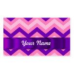 Galón rosado y púrpura tarjetas de visita