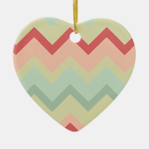 Galones al sudoeste adorno de cerámica en forma de corazón