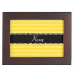 Galones amarillos conocidos personalizados cajas de recuerdos