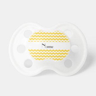 Galones amarillos conocidos personalizados chupetes de bebé
