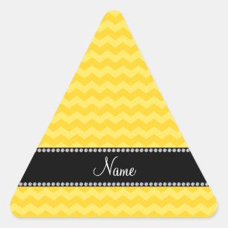 Galones amarillos conocidos personalizados calcomanía trianguladas personalizadas