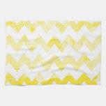 Galones amarillos soleados en un mapa amarillo toalla de mano