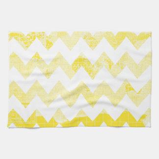 Galones amarillos soleados en un mapa amarillo toallas de cocina