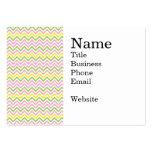 Galones amarillos y blancos del rosa de la verde tarjetas de visita grandes