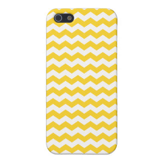 Galones amarillos y blancos iPhone 5 funda