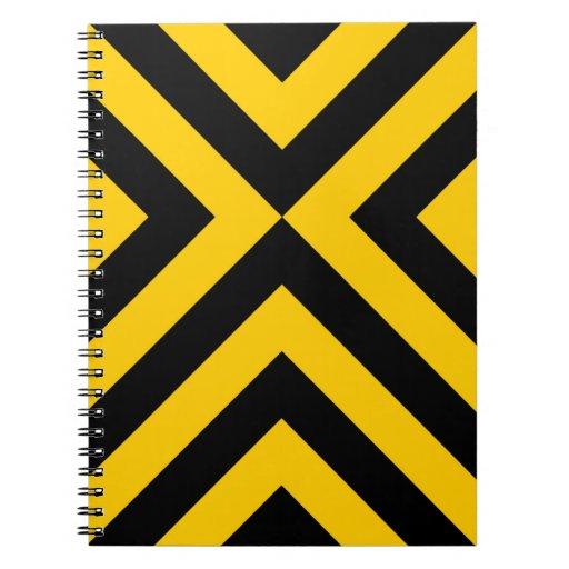 Galones amarillos y negros libro de apuntes con espiral