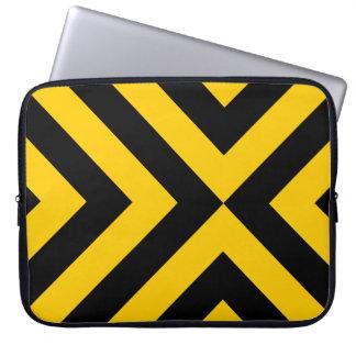 Galones amarillos y negros manga portátil
