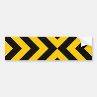 Galones amarillos y negros pegatina para auto