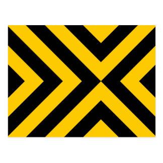 Galones amarillos y negros tarjeta postal