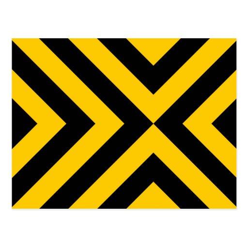 Galones amarillos y negros tarjetas postales