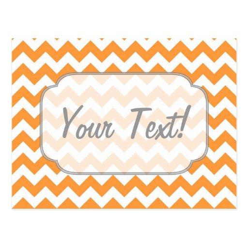 Galones anaranjados brillantes - texto de encargo postales