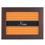 Galones anaranjados conocidos personalizados caja de recuerdos