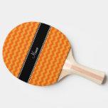 Galones anaranjados conocidos personalizados pala de tenis de mesa