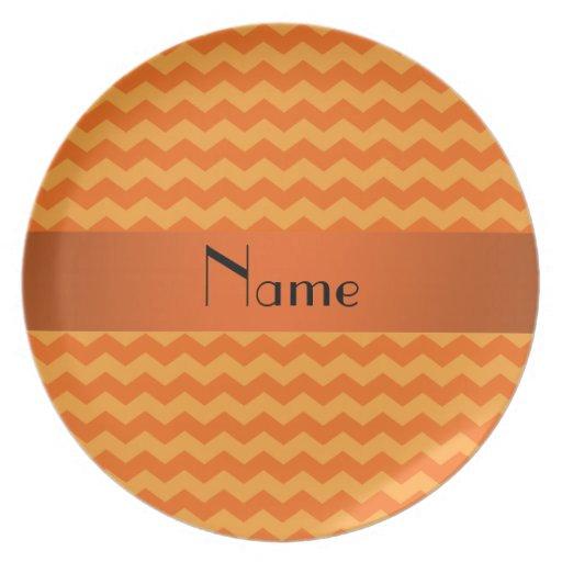 Galones anaranjados conocidos personalizados platos de comidas