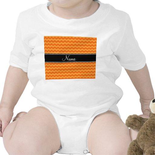 Galones anaranjados conocidos personalizados trajes de bebé