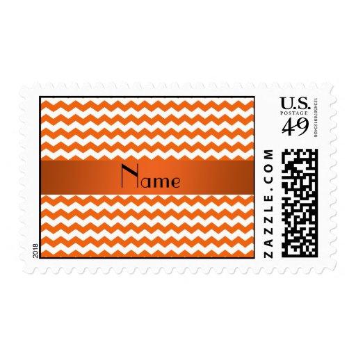 Galones anaranjados conocidos personalizados sello