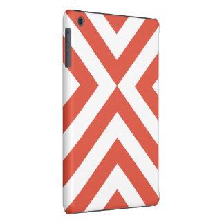 Galones anaranjados y blancos fundas de iPad mini