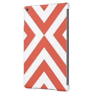 Galones anaranjados y blancos funda para iPad air