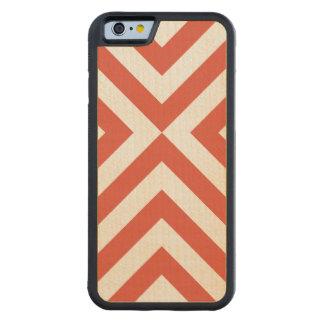 Galones anaranjados y blancos funda de iPhone 6 bumper arce
