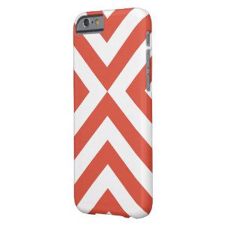 Galones anaranjados y blancos funda para iPhone 6 barely there