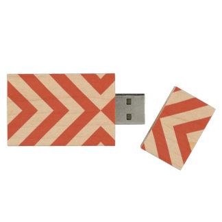 Galones anaranjados y blancos memoria USB 3.0 de madera