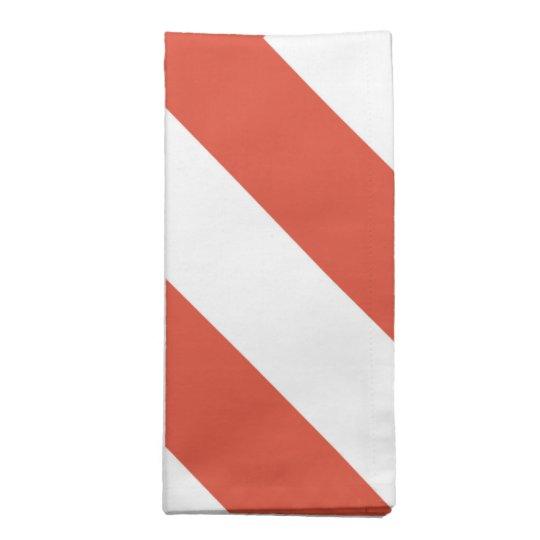 Galones anaranjados y blancos servilletas de papel