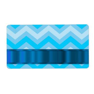 Galones azul claro etiquetas de envío