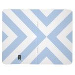 Galones azules claros y blancos cuaderno grapado