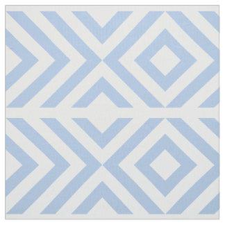Galones azules claros y blancos geométricos, telas