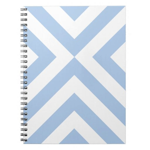 Galones azules claros y blancos libretas espirales