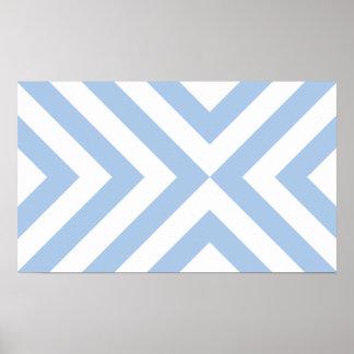 Galones azules claros y blancos posters