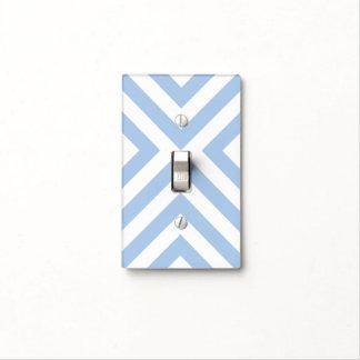 Galones azules claros y blancos tapa para interruptor