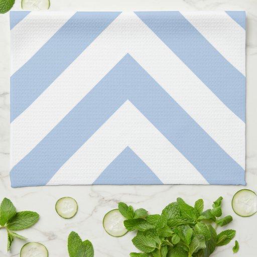 Galones azules claros y blancos toallas de cocina