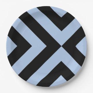 Galones azules claros y negros
