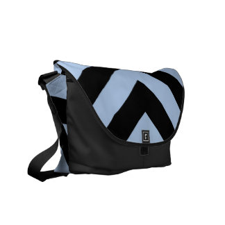 Galones azules claros y negros bolsas messenger