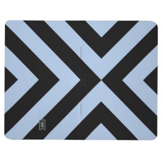 Galones azules claros y negros cuaderno grapado
