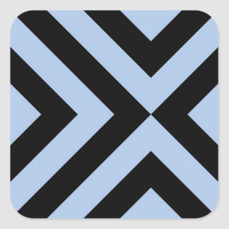 Galones azules claros y negros pegatina cuadrada