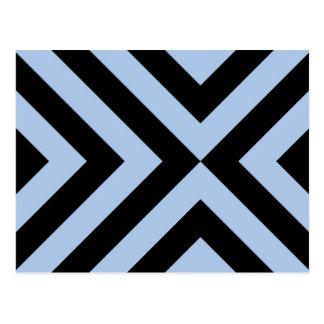 Galones azules claros y negros tarjeta postal
