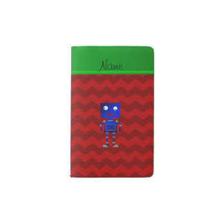 Galones azules conocidos personalizados del rojo funda para libreta y libreta pequeña moleskine