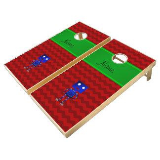 Galones azules conocidos personalizados del rojo juego de cornhole