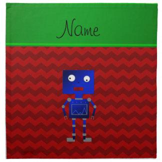 Galones azules conocidos personalizados del rojo servilletas imprimidas
