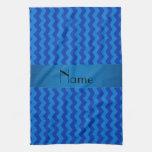 Galones azules conocidos personalizados toalla de mano