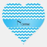 Galones azules conocidos personalizados calcomanías corazones personalizadas