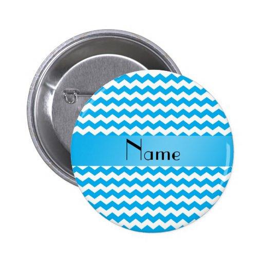 Galones azules conocidos personalizados pin redondo de 2 pulgadas