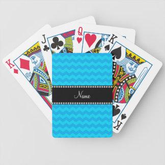 Galones azules conocidos personalizados baraja cartas de poker