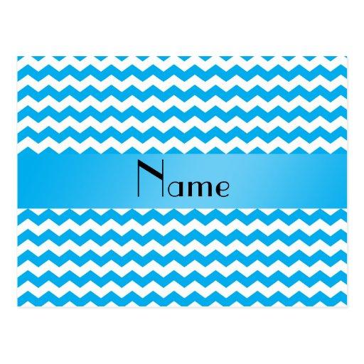 Galones azules conocidos personalizados postales